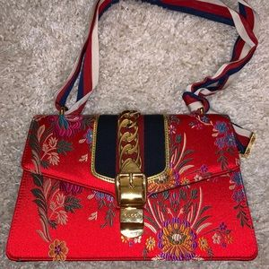 Gucci Tokyo Hibiscus Floral Chinese Shoulder Bag